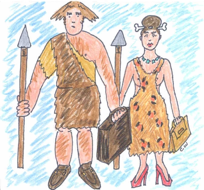 modern neanderthal man and woman