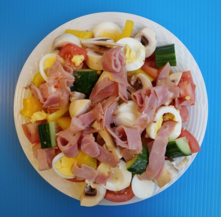 The happy ham and egg salad