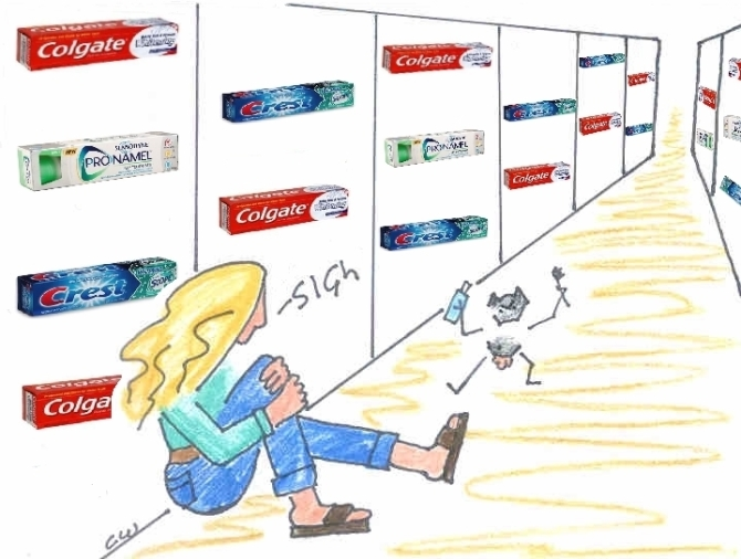 trauma in the toothpaste aisle