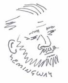 ernest hemingway caricature