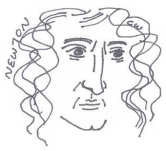 isaac newton caricature