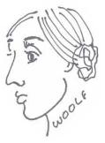 virginia woolf caricature
