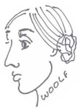 virginia woolf caricature