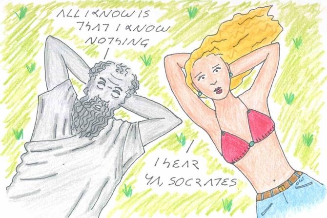 socrates greek philosopher cartoon