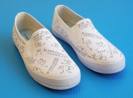 diy blank canvas shoes