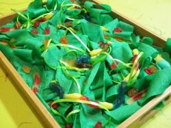 gummy dessert tray