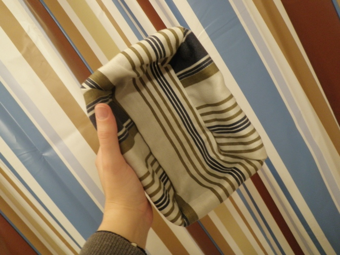striped shower curtain