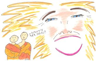 buddhism desire cartoon