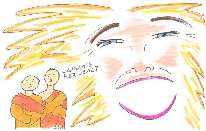 buddhism desire cartoon