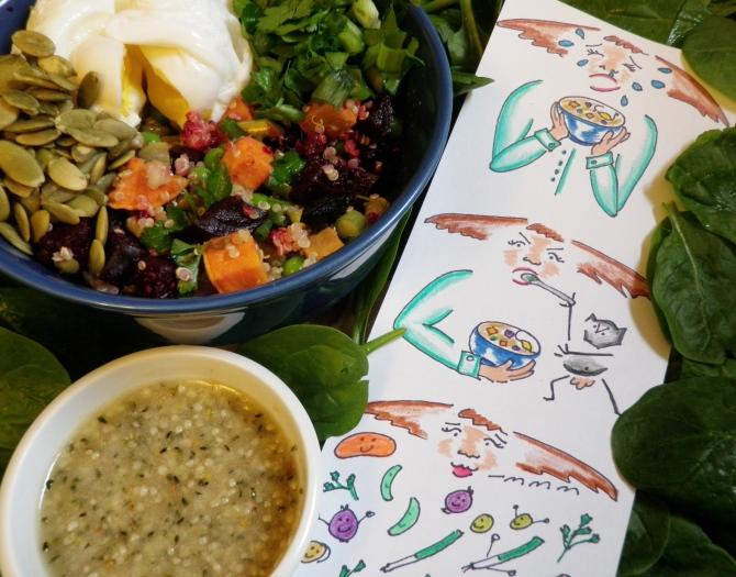 quinoa and mung bean salad