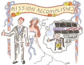 mission accomplished wedding