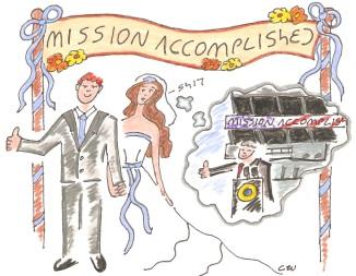 mission accomplished wedding
