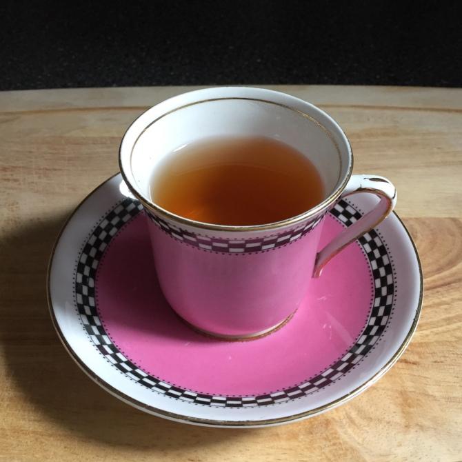 pink teacup
